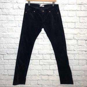Uniqlo Black Velveteen Jeans